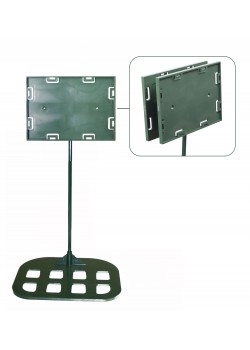 Sign holders - Double sided model 5'' x 7'' x 18'' - Flat base (Green)