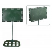 Sign holders - Double sided model 7'' x 11'' x 18'' - Flat base (Green)