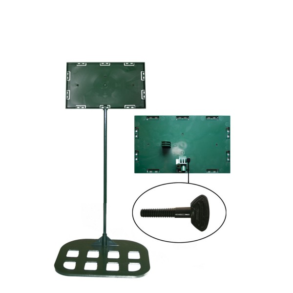 Sign holders - Table model 7'' x 11'' x 18'' - Flat base (Green)