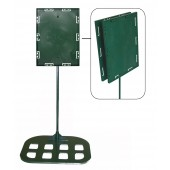 Sign holders - Double sided model 8 1/2 x11 x18''  - Flat base (Green)