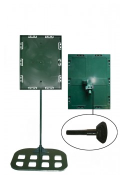 Sign holders - Table model 8 1/2'' x11'' x18 - Flat base (Green)