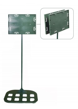 Sign holders - Double sided model 5'' x 7'' x 30'' - Flat base (Green)