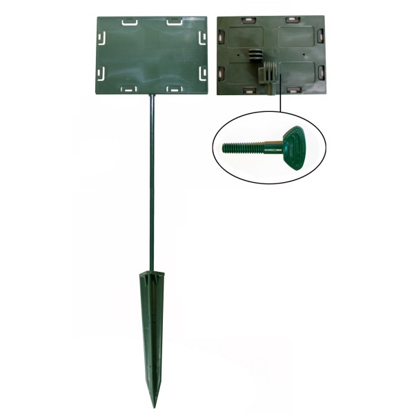 Sign holders - Anchor base model 7''x11''x30''  (Green)