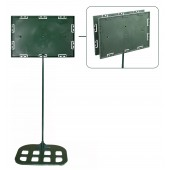 Sign holders - Double sided model 7'' x 11'' x 30'' - Flat base (Green)