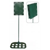 Sign holders - Double sided model 8 1/2'' x11'' x30'' - Flat base (Green)