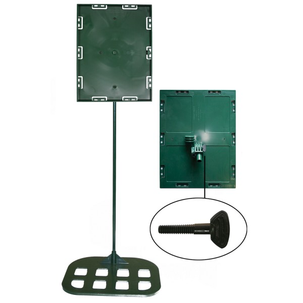 Sign holders - Plant model 8 1/2'' x11'' x30'' - Flat base (Green)