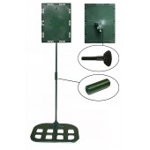 Sign holders - Pallet model 8 1/2'' x 11'' x 36'' - Flat base (Green)