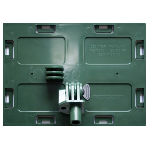 Faceplate with pivot 5'' x 7'' (Green)
