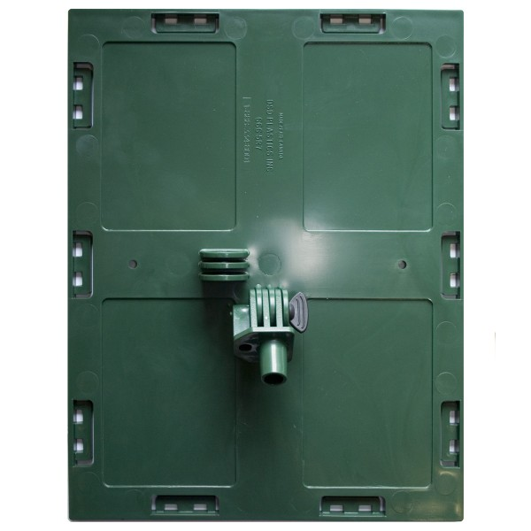 Faceplate with pivot 8,5'' x 11'' (Green)
