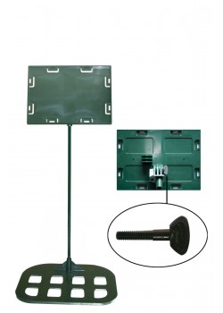 Sign holders - Table model 5'' x 7'' x 18'' - Flat base (Green)